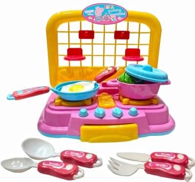 pig kitchen how to arrange pots and pans in 35 off on my baby excel peppa set flipkart paisawapas com