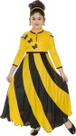 FTC FASHIONS Girls Maxi/Full Length Party Dress(Yellow, 3/4 Sleeve)