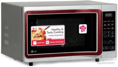 LG 28 L Convection Microwave Oven(MC2841SPS, Silver)