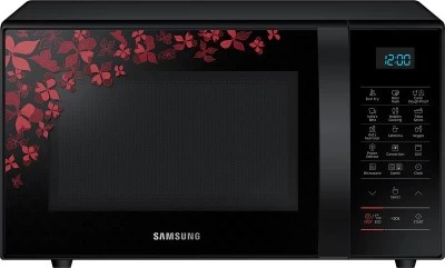 Samsung 21 L Convection Microwave Oven(CE77JD-SB/XTL, Black Sanganeri Pattern)