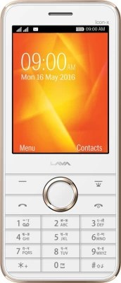Lava Spark Icon X(White & Gold)