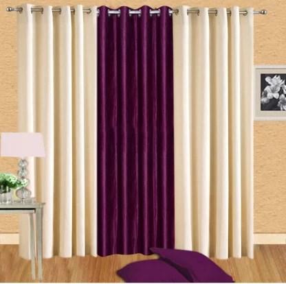 freshfromloom 275 cm 9 ft polyester long door curtain pack of 3