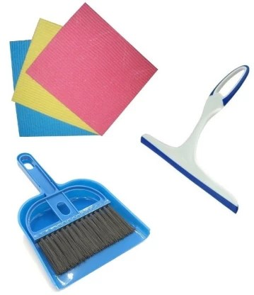 de ultimate combo of kitchen floor tiles cleaning wipes and glass cleaner wiper with mini plastic dustpan