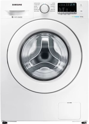 Samsung 8 kg Inverter with Ecobubble Fully Automatic Front Load with In-built Heater White