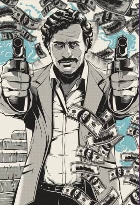 pablo escobar narcos poster for room office 13 inch x 19 inch rolled paper print