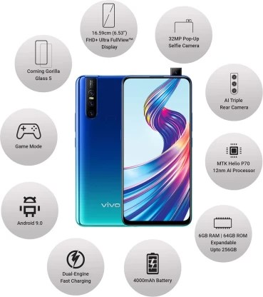 Vivo V15 (Aqua Blue, 64 GB)