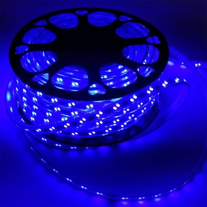 tryka led strip cove light waterproof roll 40 meter super bright light 90 leds mtr blue with 4 adapters recessed ceiling lamp