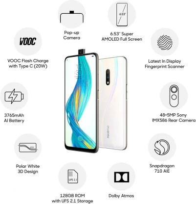 Realme X (Polar White, 128 GB)