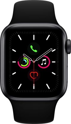 Apple Watch Series 5 GPS + Cellular 40 mm Space Grey Aluminium Case with Black Sport Band