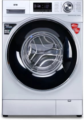 IFB 8 kg Unbalance correction, self-diagnosis Fully Automatic Front Load with In-built Heater Silver