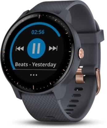 Garmin Vivoactive 3 Music Smartwatch(Grey Strap, Regular)