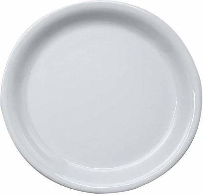 https www flipkart com four square retail lightweight microwave safe unbreakable melamine round half plain snacks plates set 3 white dinner plate p itm91b57bc94f29e