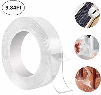 cloudking reusable nano adhesive tape washable double sided adhesive tape multifunctional traceless glue tape and strong gel suitable for
