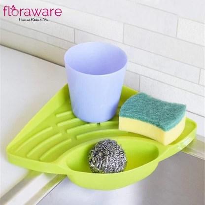 floraware multipurpose must have corner sink wash basin storage organizer dish drainer kitchen rack