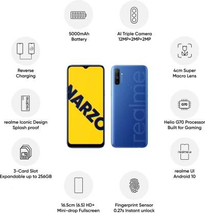 Realme Narzo 10A (So Blue, 64 GB)