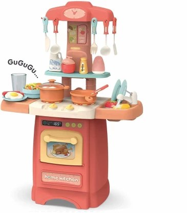 tik kitchen play set with sound and light play sink with running water full realistic kitchen play set for kids girls kitchen set play toy