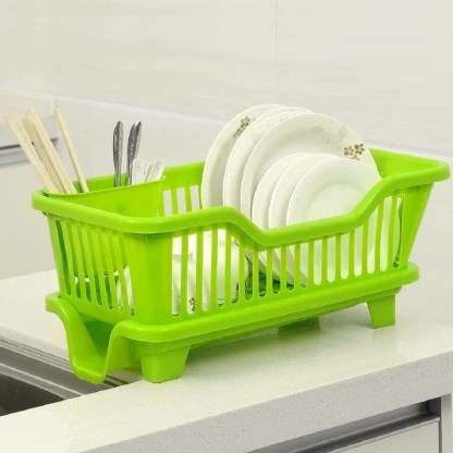 ketsaal 3 in 1 large kitchen sink dish rack drainer dish drying rack washing basket with tray and cutlery holder chopsticks spoon organizer dish rack