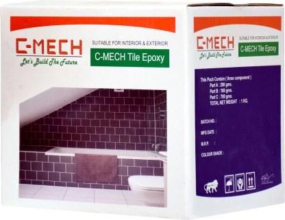c mech epoxy tile grout black 1kg crack filler