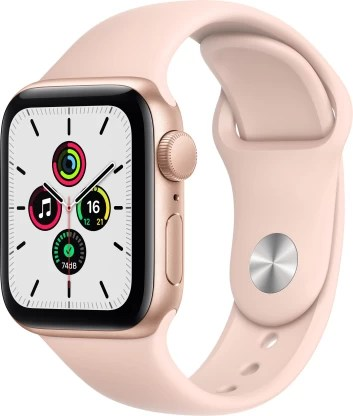 Apple Watch SE GPS 40 mm Gold Aluminium Case with Pink Sand Sport Band