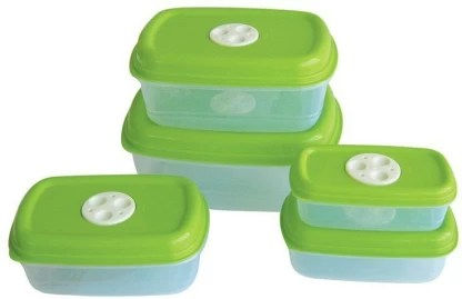 princeware microwave safe 5 pcs container set 2 85 l 1 8 l 1 125 l 725 ml 475 ml polypropylene grocery container