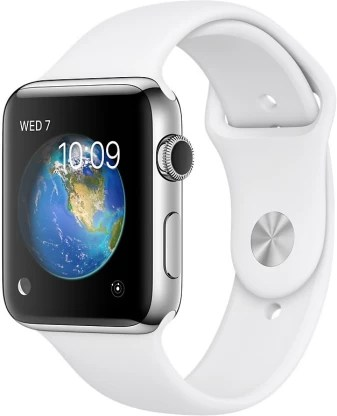 Apple Watch Series 2 - 42 mm Stainless Steel Case with White Sport Band