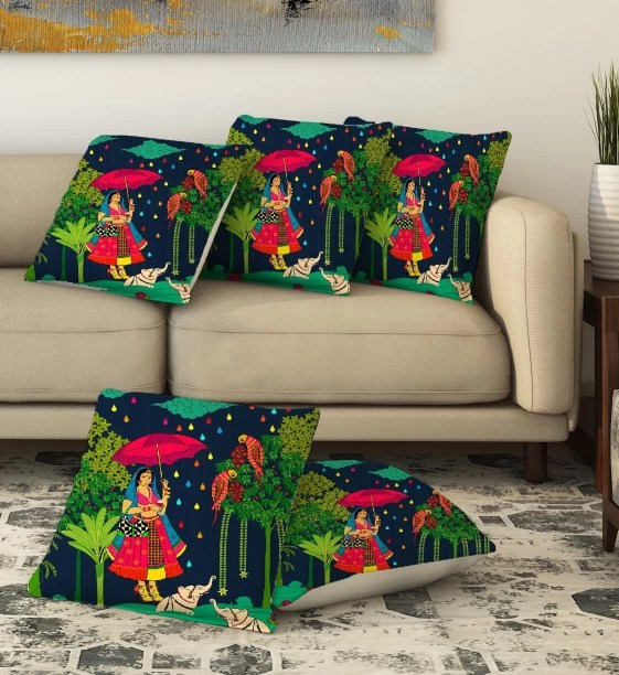 chair pad covers online india metal outdoor rocking chairs cushion buy at best prices in la verve printed cushions cover