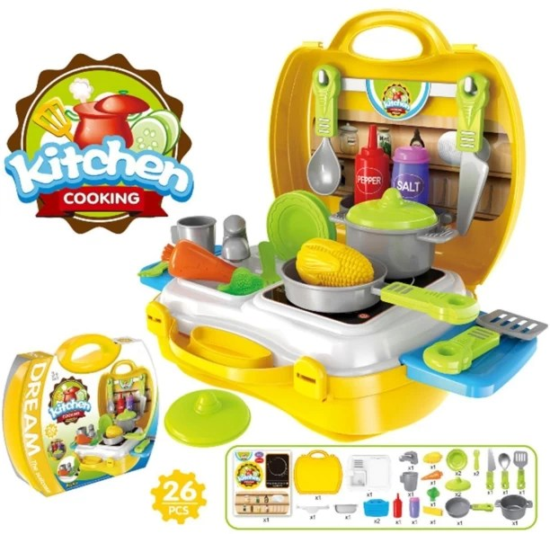 kids play kitchen sets exhaust fan for set buy online at best prices miss chief 26pcs