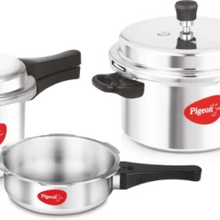 Kitchen Vessels Set Kidkraft Toy Pressure Cookers Hawkins Cooker Min 15 Off Pigeon Special Combo Pack 2 L 3 5 With Induction