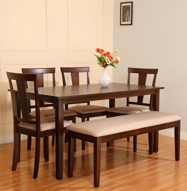 dining table set 6 chairs intex inflatable pull out chair seater tables sets online at discounted prices on flipkart perfect homes fraser engineered wood