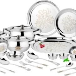 Kitchen Vessels Set Island Remodel Dinner Sets Online At Discounted Prices On Flipkart Classic Essentials Premium Glory With Permanent Lazer Design Pack Of 61