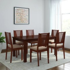 Chairs Dining Table Target Dorm Lounge Chair And Designs Online At Best Prices Woodness Vivian Solid Wood 6 Seater Set
