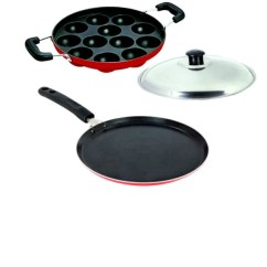 Kitchen Pots Curtain For Window Lavelle Pans Tawas Buy Online 4mm Mercury Non Induction Stick Economy Dosa Tawa Red 12