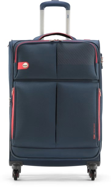 Vip modulus  exp strolly royal blue expandable check in luggage inch also suitcases buy bags briefcases online rh flipkart