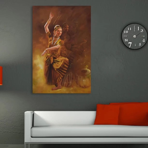 wall painting for living room india overstock chairs inephos paintings buy online at best prices in unframed canvas beautiful bharatnatyam indian classic dancer art