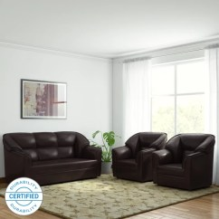 Leather Sofa Set For Living Room Rooms With Wood Walls Check स फ Sets Designs At Flipkart Furniture Westido Manhattan Leatherette 3 1 Brown