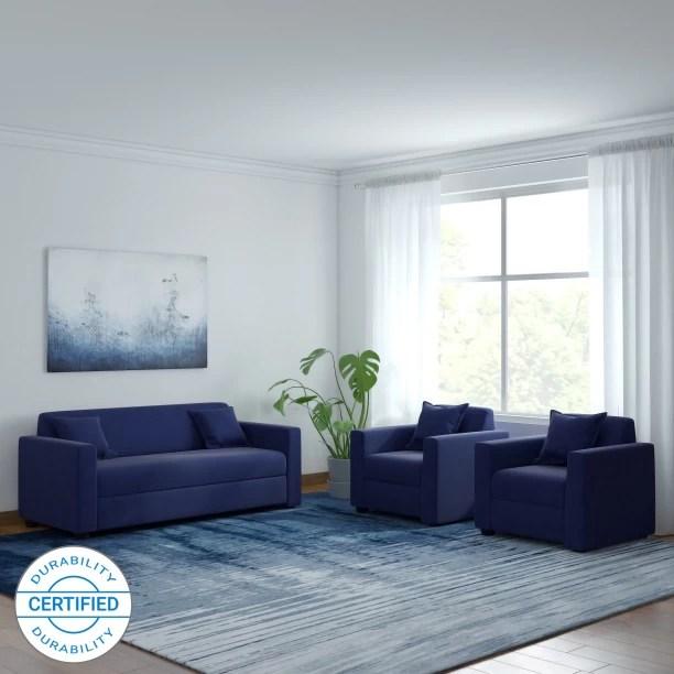 sofa set below 3000 in hyderabad wayfair sofas leather check स फ sets designs at flipkart furniture westido fabric 3 1 navy blue