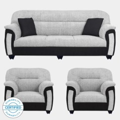 Exchange Old Sofa For New In Chennai Cleaning A Suede Set Check स फ Sets Designs At Flipkart Furniture Bharat Lifestyle Sagittarius Fabric 3 1 Black Grey