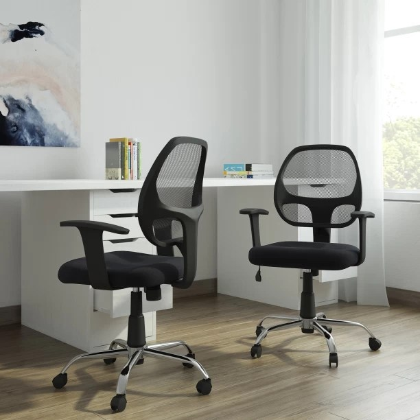 geeken revolving chair elegant comfort covers office study chairs buy featherlite online at best dzyn furnitures linen executive