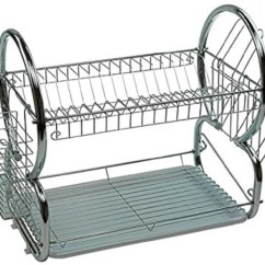 Kitchen Racks Modern Cart क चन र Trolleys Online At Discounted Prices Maison Cuisine Dish Rack Steel 2 Tier Multi Function Stainless Drying