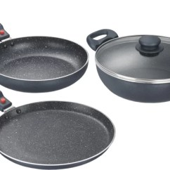 Kitchen Pot Sets Aid Stand Up Mixer Cookware Online Non Stick At Prestige Omega Festival Pack Induction Bottom Set