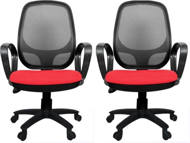 chair revolving steel base with wheels nautical cushions ties office study chairs buy featherlite online at best rajpura executive computer