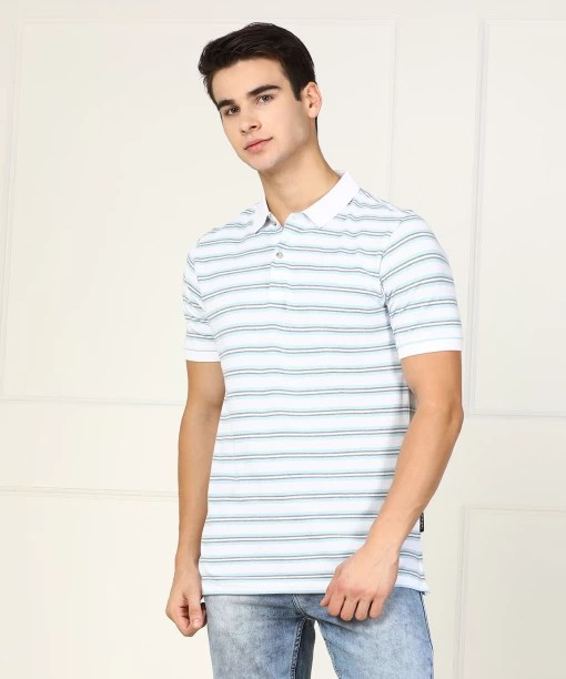 Van heusen striped men   polo neck multicolor  shirt also tshirts buy online at best prices in rh flipkart