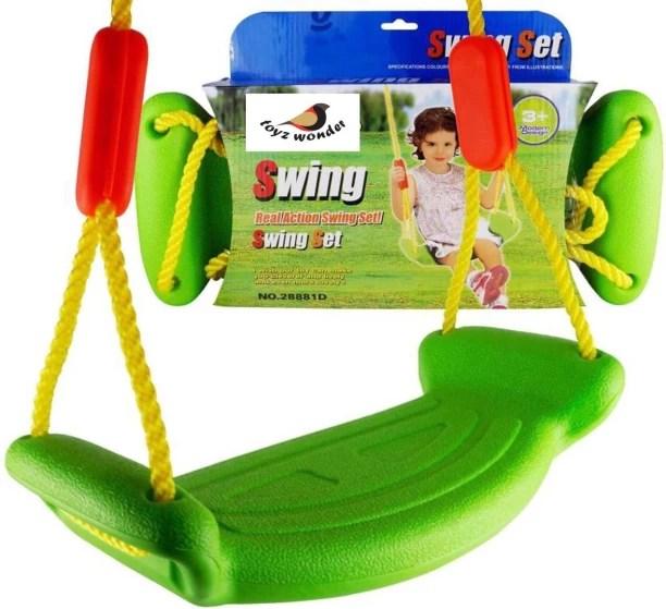 hanging chair flipkart mitre 10 hammock swings झ ल online at best prices on toyzwonder rectangular plastic real action swing seat set with rope for garden indoor outdoor