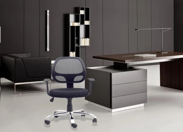 rolling chair accessories in chennai best desk chairs for lower back pain office study buy featherlite online at dzyn furnitures linen executive