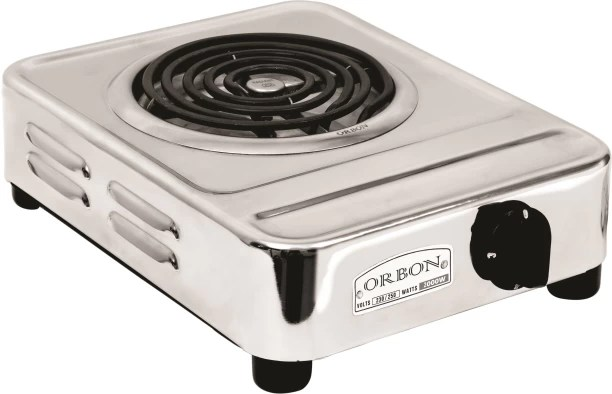 electric stove ib math studies venn diagrams heaters buy cooking heater online at best prices orbon 2000 watt big rectangular silver chrome g coil hot plate induction cooktop