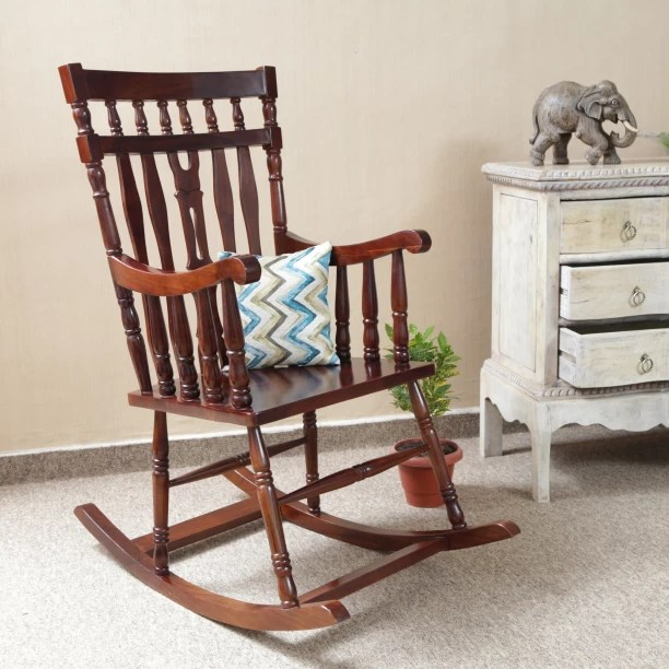 rocking chair with footstool india bed bath and beyond leg covers chairs buy easy online at best prices in on home edge gulmarg solid wood 1 seater