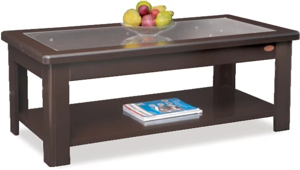 buy wooden centre table with glass top