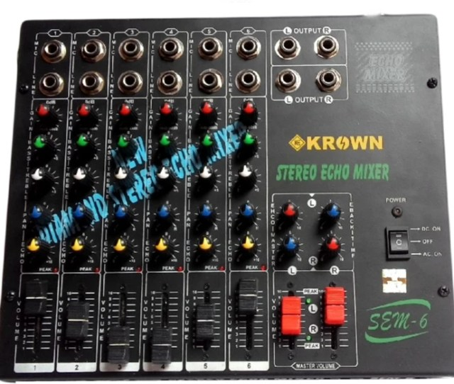Krown Professional 6 Channel Stereo Mixing Console With Echo 10 W Av Power Amplifier
