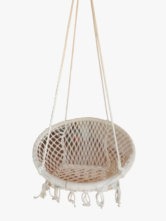 hanging chair flipkart white bucket royallyrelax cane swing wooden cotton price in india buy