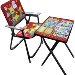 Study Table And Chair For Kids Faux Leather Slipper Abasr Solid Wood Desk Price In Finish Color Red